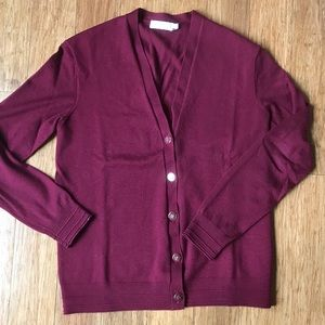 Tory Burch classic v-neck cardigan sweater